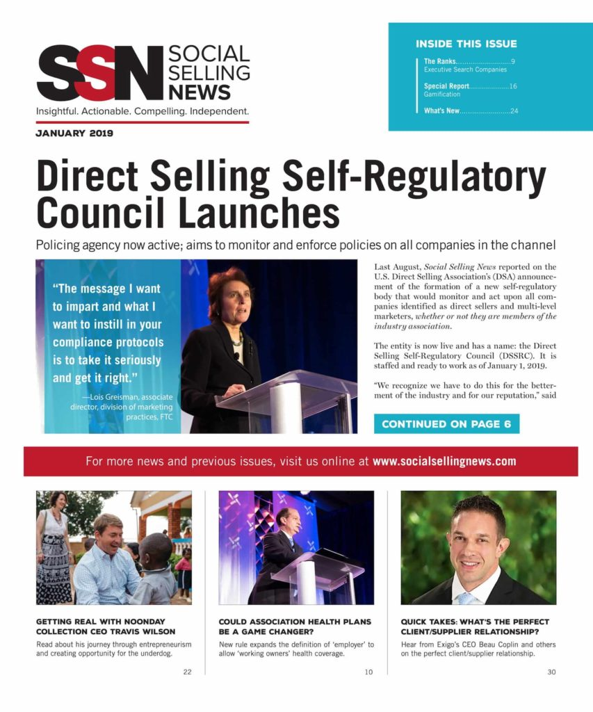 Social Selling News cover January 2019